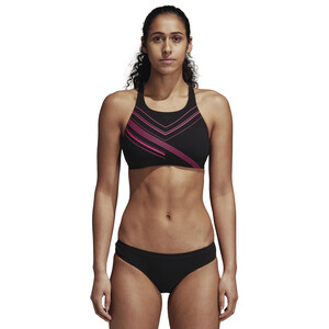 adidas Two-Piece Placed-Print Bikini Damen black/shock pink black/shock pink