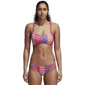 adidas Allover Print Bikini Damen real pink/bright blue real pink/bright blue