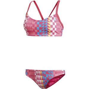adidas Allover Print Bikini Damen real pink/bright blue real pink/bright blue