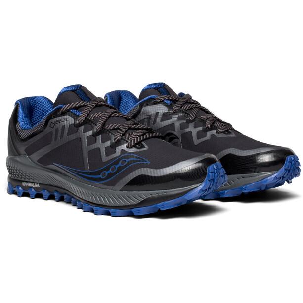 saucony Peregrine 8 GTX Schuhe Herren black/grey/blue