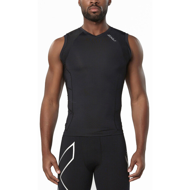 2XU Compression Sleeveless Top Herr black/black