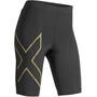 2XU MCS Run Shorts Dam black/gold reflective