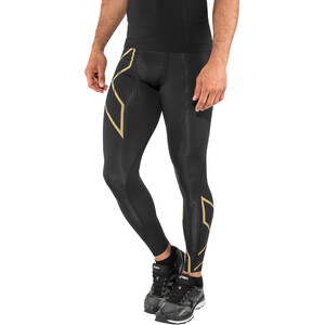 2XU MCS Run Compression Tights Men, black/gold reflective black/gold reflective