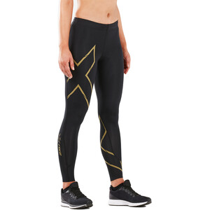 2XU MCS Run Compression Strømpebukse Dame black/gold reflective black/gold reflective