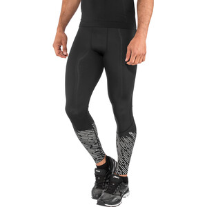 2XU Reflect Juoksutrikoot Miehet, black/silver lightbeams reflec black/silver lightbeams reflec