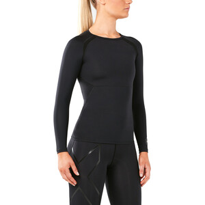 2XU Refresh Recovery Compression Langærmet trøje Damer, sort sort