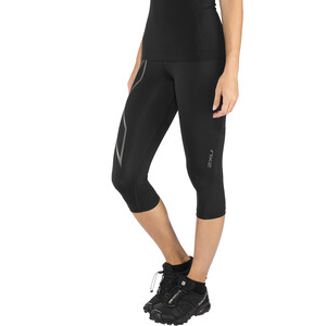 2XU Run Mid Rise 3/4 Kompressions-Tights Damen black/ black reflective black/ black reflective