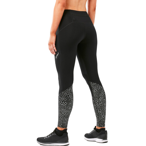 2XU Wind Defence Kompressions-Tights Damen black/silver glo reflective