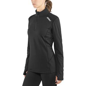 2XU XVENT 1/4 Zip Langarmshirt Damen black/black black/black