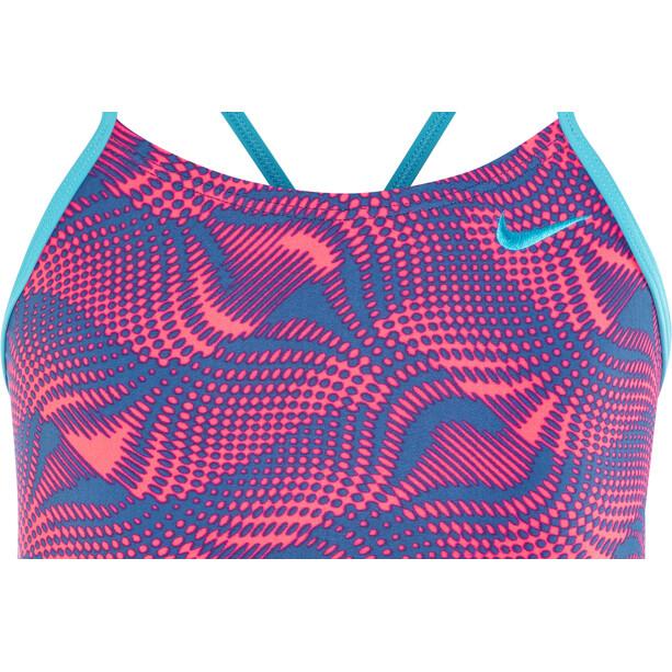 Nike Swim Wave Cut-Out Tank Uimapuku Tytöt, racer pink