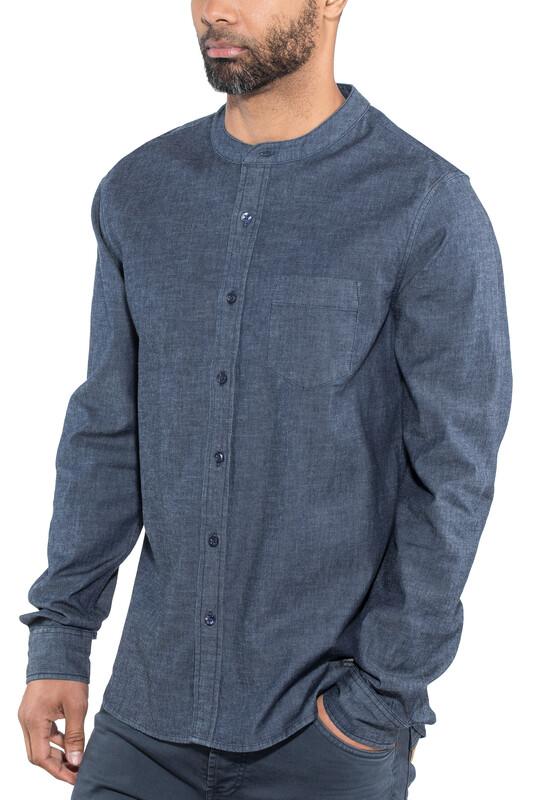 fb653dce Bergans Ms Oslo Shirt Dark Denim XL 2018 T-skjorter langermet