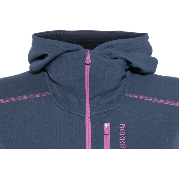 Norrøna Trollveggen Warm/Wool1 Zip Hoodie Dam indigo night/royal lush