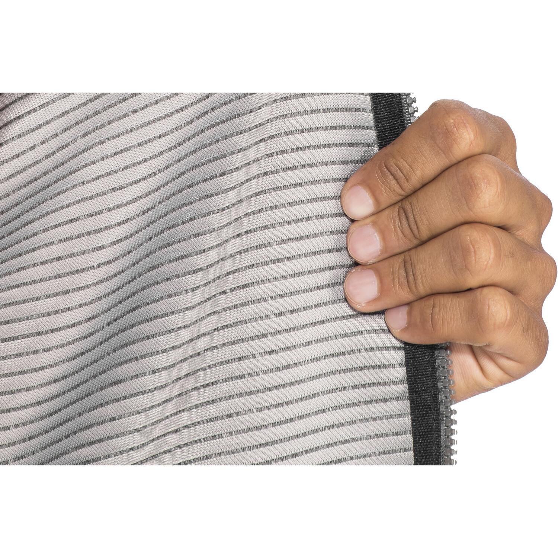 Meru Serres Fleece Hoodie Herren ebony striped