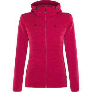 Meru Kalamata Fleece Hoodie Damen raspberry striped raspberry striped