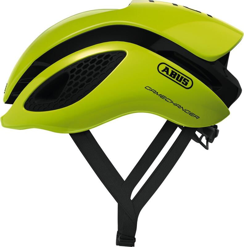 ABUS GameChanger Aero Helmet neon yellow 52-58cm 2018 Fahrradhelme