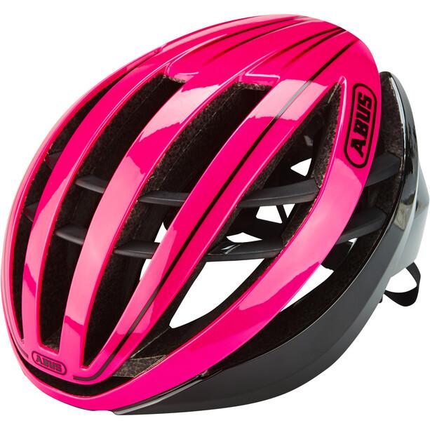 ABUS Aventor Road Helm fuchsia pink