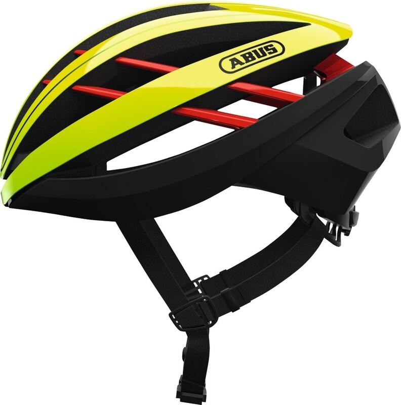 ABUS Aventor Road Helmet neon yellow 58-62cm 2018 Fahrradhelme