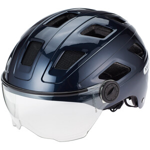 ABUS Hyban+ Helm midnight blue, clear visor midnight blue, clear visor