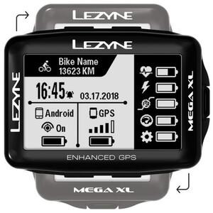 Lezyne Mega XL GPS Computer schwarz schwarz