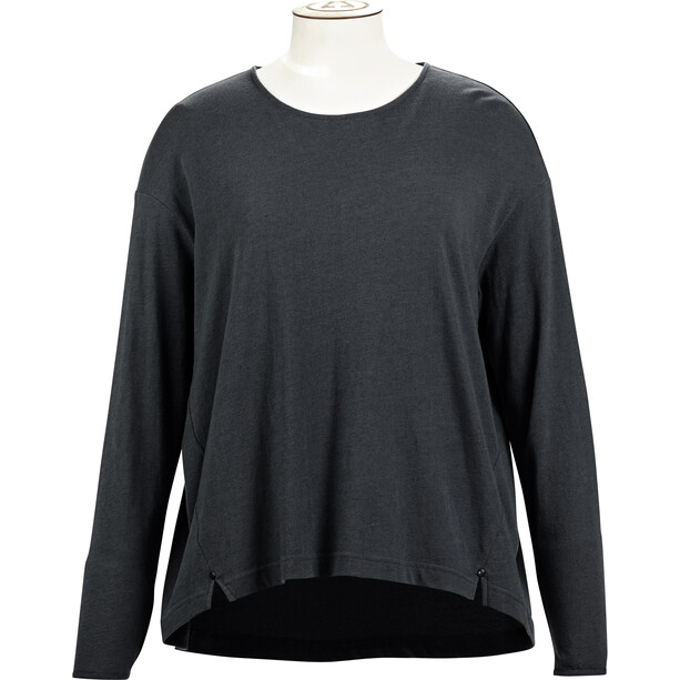 Alchemy Equipment Long Sleeve Pleated Relaxed Top Dam graphite