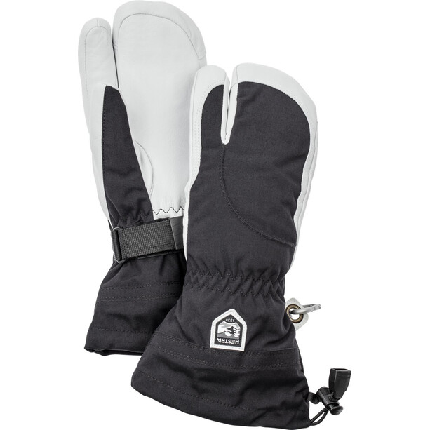 Hestra Heli Ski 3 Finger Handschuhe Damen black/offwhite