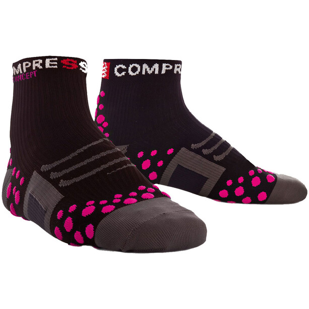 Compressport ProRacing Run High-Cut Socken black/pink