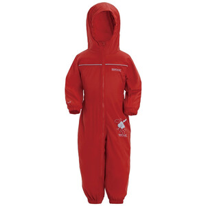 Regatta Puddle IV Overall Kinder rot rot