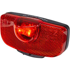 Busch + Müller D-Toplight permanent Éclairage arrière fonctionnant sur piles, noir/rouge noir/rouge
