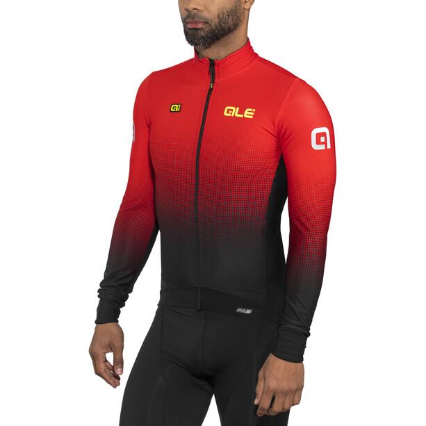 Alé Cycling PRS Dots DWR Langarm Trikot Herren black-red