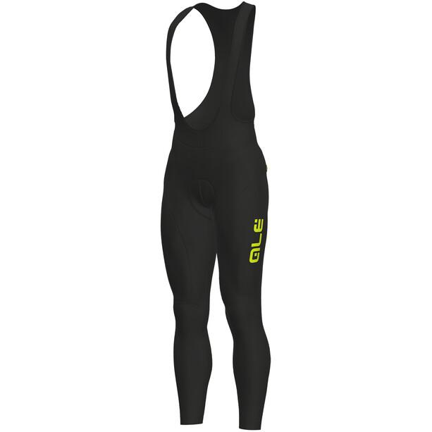 Alé Cycling Solid Winter Trägerhose Herren black-yellow fluo