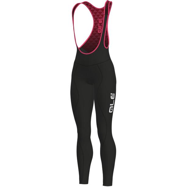 Alé Cycling Solid Winter Trägerhose Damen black-fluo pink