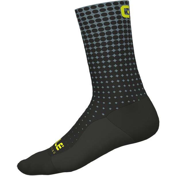 Alé Cycling Dots Socken nero-grigio/black-grey