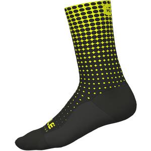 Alé Cycling Dots Socken nero-glo fluo/black-yellow fluo nero-glo fluo/black-yellow fluo