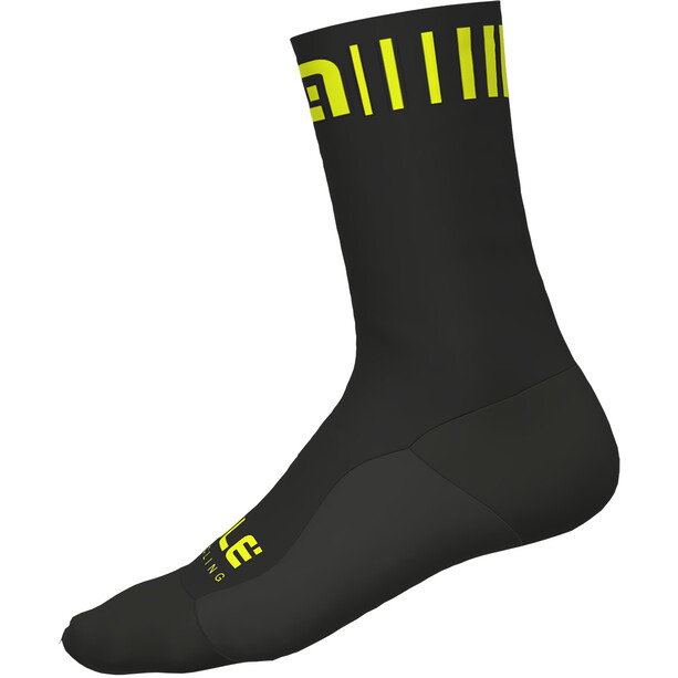 Alé Cycling Strada Socken black-yellow fluo