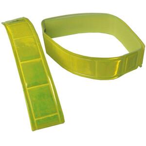 fasi Garter-signal color med kardborrband 1 Par gul gul