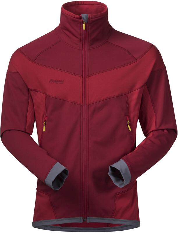 Bergans Roni Jacket Herre burgundy/red S 2018 Softshelljakker