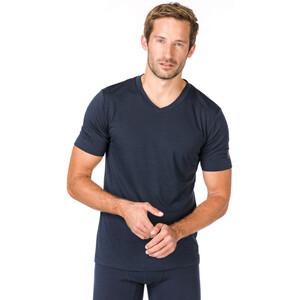 super.natural Base 140 V-Ausschnitt T-Shirt Herren navy blazer navy blazer