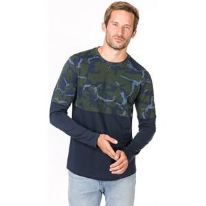 super.natural Camo Langarmshirt Herren duffel bag camo/navy blazer duffel bag camo/navy blazer