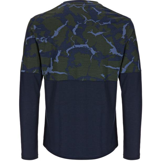 super.natural Camo Langarmshirt Herren duffel bag camo/navy blazer