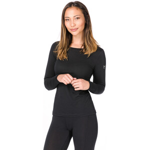 super.natural Base 175 Langarmshirt Damen jet black jet black