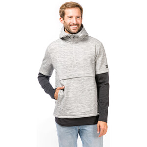 super.natural Motion Double Layer Hoodie Herren ash melange/jet black ash melange/jet black