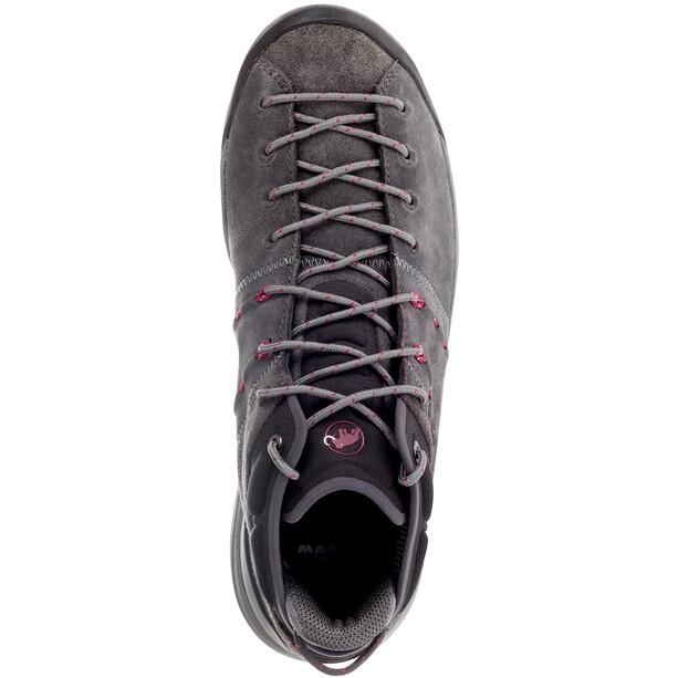 Mammut Hueco Mid GTX Shoes Dam graphite-beet