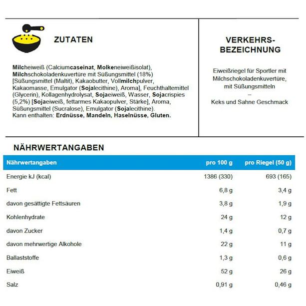 PowerBar ProteinPlus 52% Bar Box 20x50g Cookies & Cream