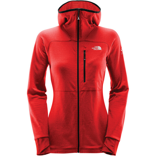 The North Face L2 Proprius Fleece Hoodie Jacket Dam fiery red
