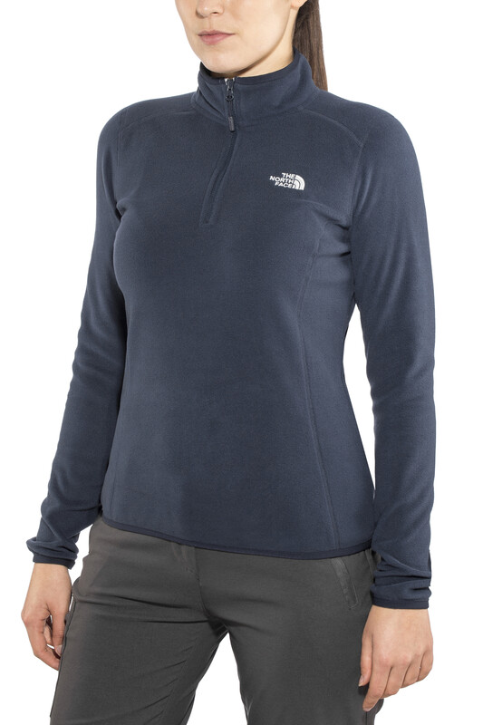 The North Face 100 Glacier 1/4 Zip Women Urban Navy L 2018 Kletter Midlayer, Gr.
