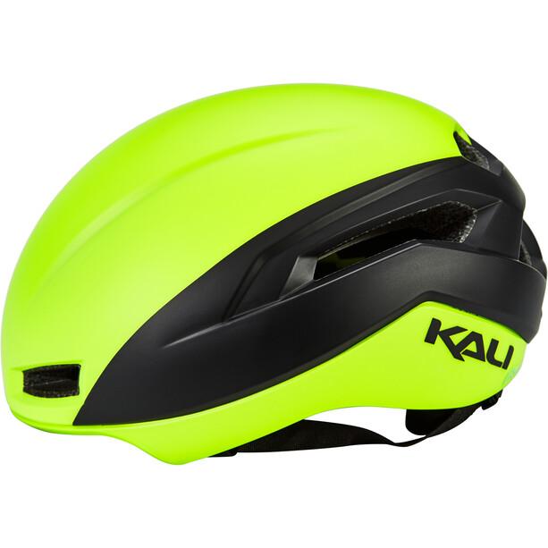 Kali Tava Flow Casque Homme, fluoro yellow/black
