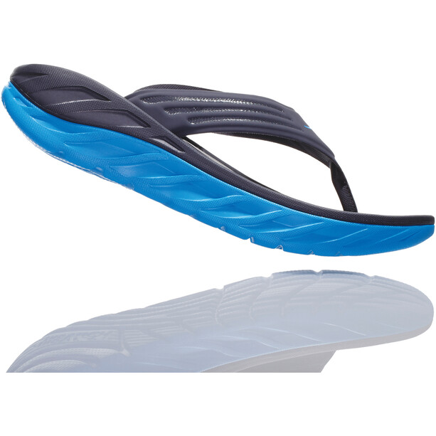 Hoka One One Ora Recovery Flips Herren ebony/dresden blue