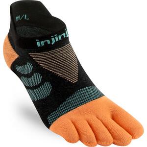 Injinji Ultra Run No-Show Socken Damen schwarz/orange schwarz/orange