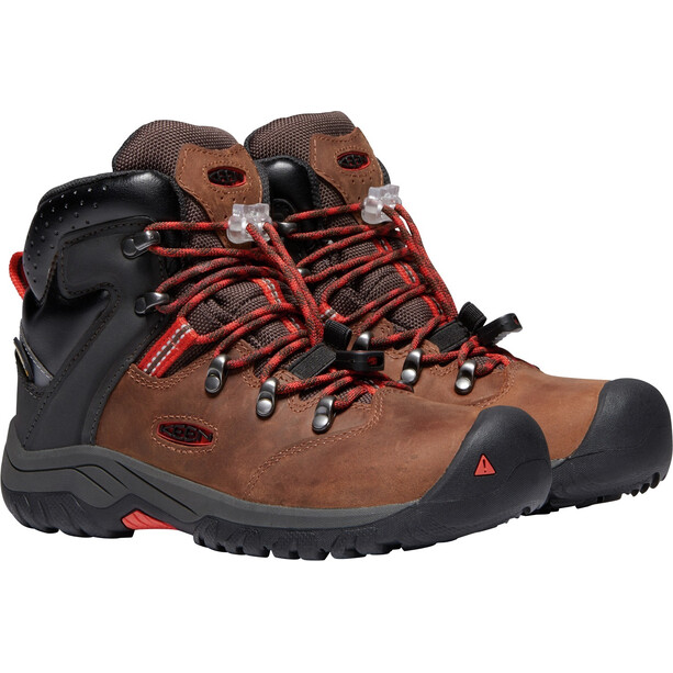 Keen Torino II Mid WP Shoes Youth, tortoise shell/firey red