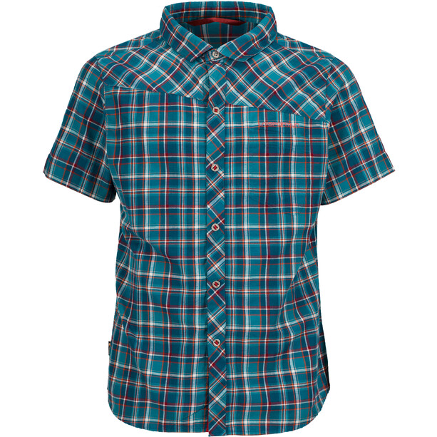 La Sportiva Pinnacle Shirt Herren lake/cardinal red